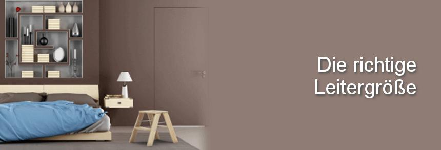 Richtige Leiter Größe