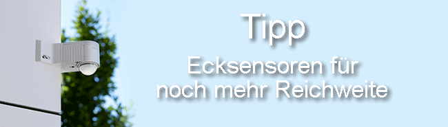 Ecke Bewegungsmelder Sensor Tipp