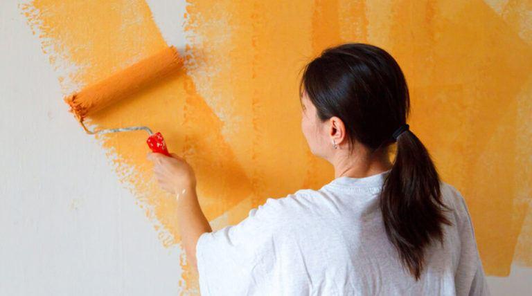 Wände farbig streichen Streifen Muster einfach Anleitung