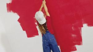 Wand streichen Dispersionsfarbe Test Vergleich