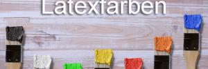 alles über Latexfarben Pinsel farbig