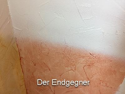 Test: Farbe Sprühen Strukturwand