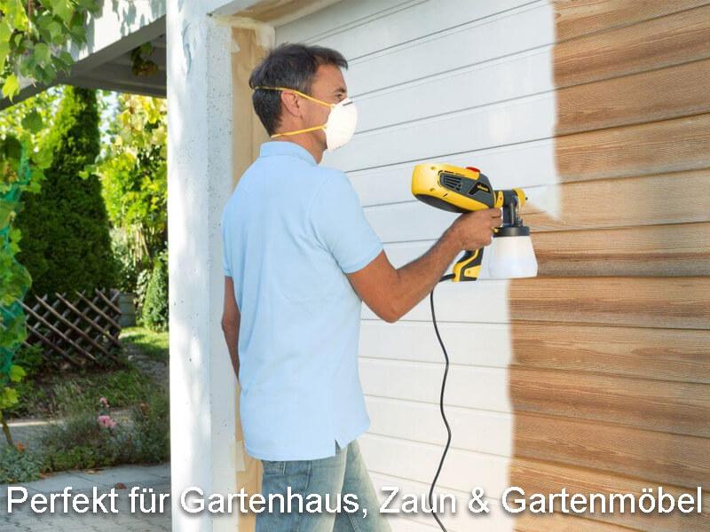 Farbsprühsystem Holz, Garten Zaun