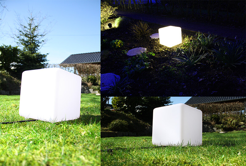 Cube Lampe Garten System