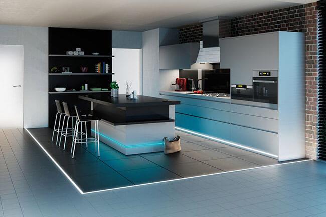 Boden in der Küche beleuchten
