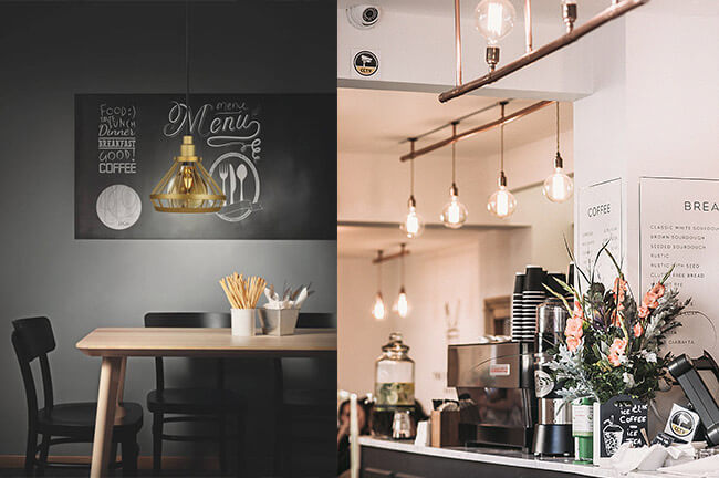 Küchenbeleuchtung im Kaffeehausstil