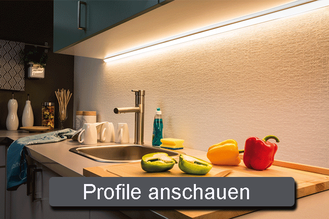 Küchenbeleuchtung mit LED Profilen