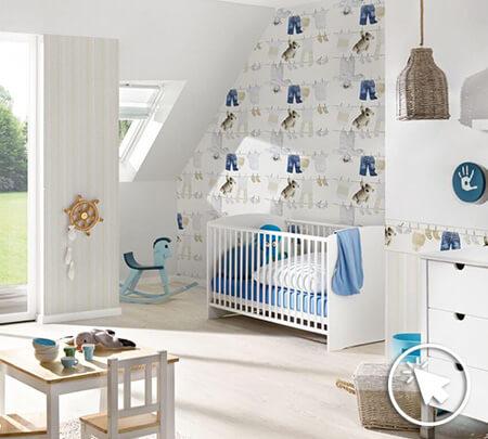 Kinderzimmer tapete ideen f r kindertapete hier - Babyzimmer tapete gestaltung ...