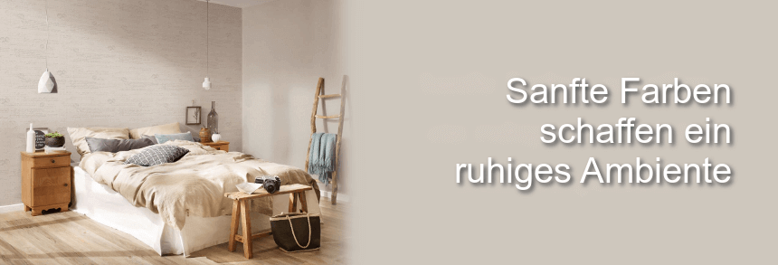 Sanfte Farben Schlafzimmer Tapete