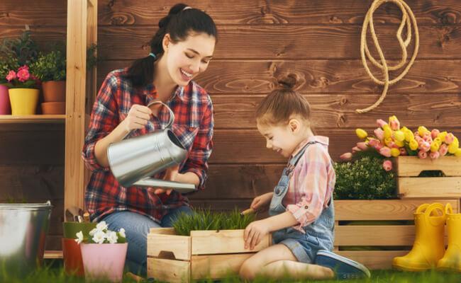 Kinder für Gartenarbeit begeistern