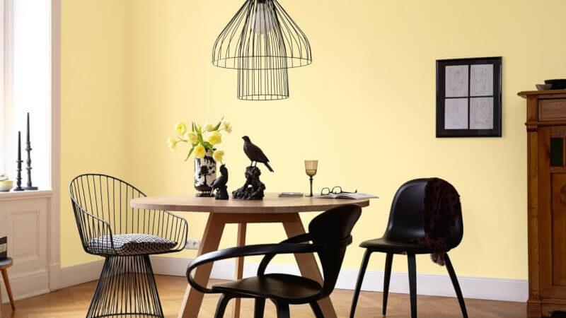 Gelb als Wandfarbe   Inspiration für Deine Wände