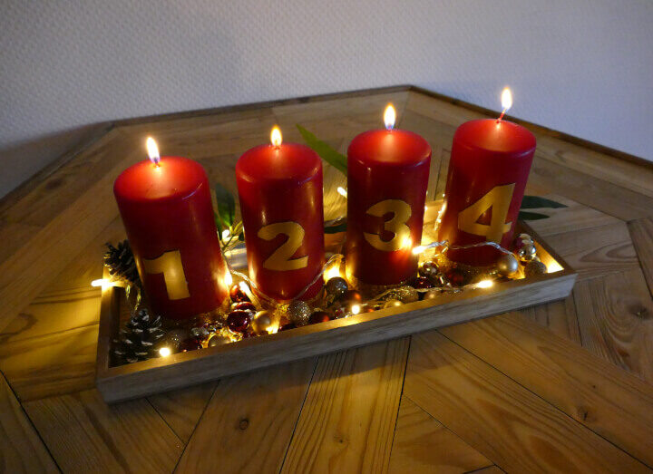 Kerzen Adventskranz