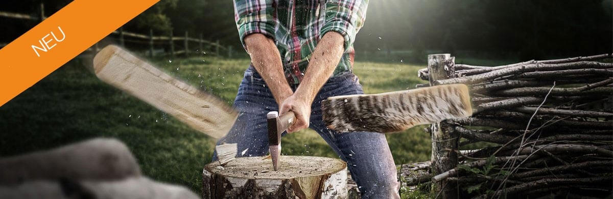 Fiskars Axt Holz spalten