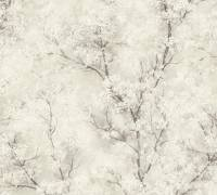 AS Creation Tapete | Waldtapete Weiß Creme Grau | New Walls