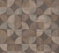 Livingwalls Beige Holz Mosaik Vliestapete Metropolitan Stories 369131