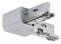 Paulmann URail L-Verbinder, 230V Schienen-System-ZUB, Chrom matt | Weiß