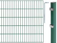 GAH Grundset Doppelstab-Gittermatte, Grün, 6|5|6, Zaun-Set in allen Höhen + Längen