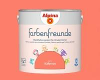 2x Alpina Farbenfreunde günstig im Set Innenfarbe Käferrot 2,5 L