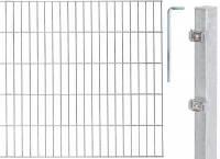 GAH Grundset Doppelstab-Gittermatte, Feuerverzinkt, 6|5|6, Zaun-Set in allen Höhen + Längen