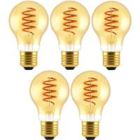 Blulaxa 5er Pack LED Filament Vintage Lampe, 5W = 25W, E27, 250 lm, extra warmweiß (1800 K)