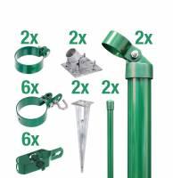 GAH Maschendraht Zaunanschluss-Set für Gartentore   Grün oder Anthrazit   80 - 200 cm