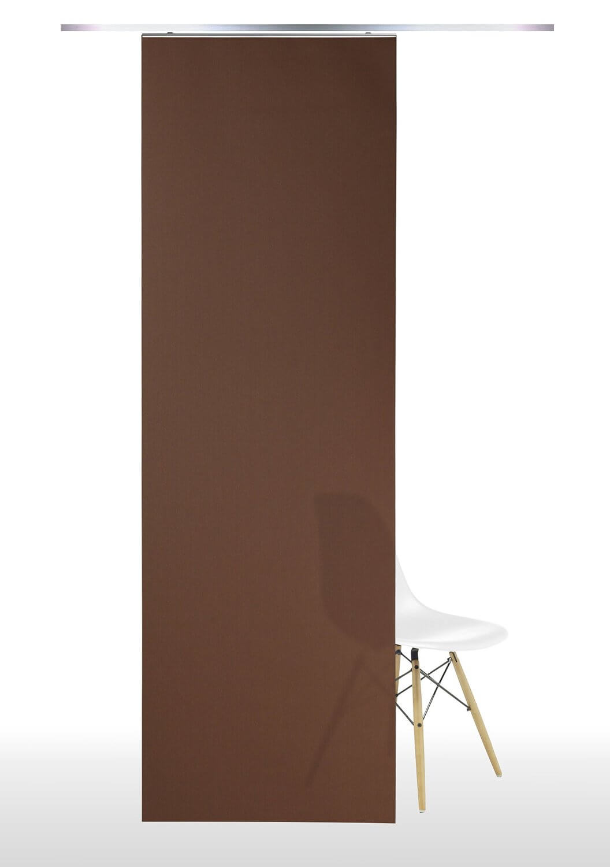 Gardinia Flächenvorhang Set Uni Cappuccino 60 X 245 Cm | Markenbaumarkt24