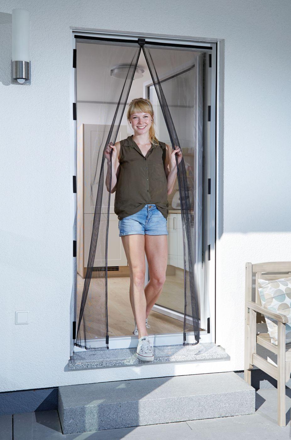 schellenberg insektenschutz magnetvorhang fliegengitter mit magnet f r t ren 120 x 240 cm in. Black Bedroom Furniture Sets. Home Design Ideas