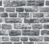 Livingwalls Vliestapete Neue Bude 2,0 Backstein, Schwarz-Grau 361404 Tapete