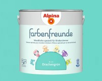 2x Alpina Farbenfreunde günstig im Set Innenfarbe Drachengrün 2,5 L