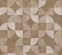 Livingwalls Beige Holz Mosaik Vliestapete Metropolitan Stories 369134