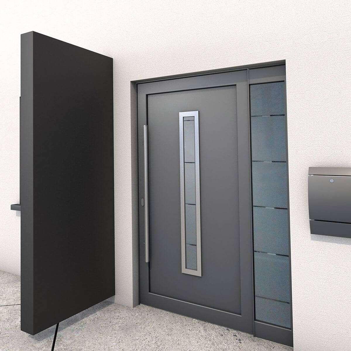 Gutta Seitenteil BS | Seitenblende für Vordach | Schwarz Metall ...