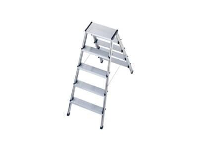 Alu Sicherheits Doppelstufenleiter Stufen