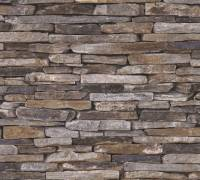 AS Creation Steinmauer Vliestapete Best of Wood`n Stone 2nd Edition, Stein, Tapete 914217