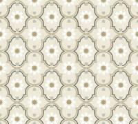 Livingwalls Vliestapete Cozz Vintage-Muster, Grau-Beige-Braun 362971 Tapete