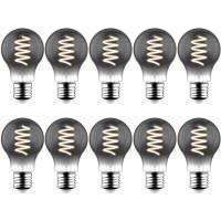 Blulaxa 10er Pack LED Filament Vintage Lampe, 5W, E27, 120lm, schwarze Retro-Optik, extra Warmweiß