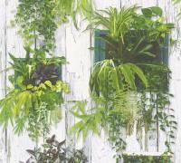 AS Creation Bunt Shabby-Chic Pflanzen Papiertapete Authentic Walls 2 304131