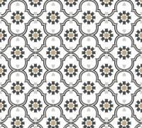 Livingwalls Vliestapete Cozz Vintage-Muster, Weiß-Schwarz-Grau 362974 Tapete