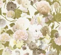 Livingwalls Creme Blumen Vintage Vliestapete Paradise Garden 367172