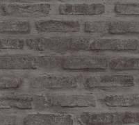 AS Creation Tapete | Steinoptik Schwarz Grau | New Walls