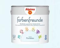 2x Alpina Farbenfreunde günstig im Set Innenfarbe Fischblau 2,5 L