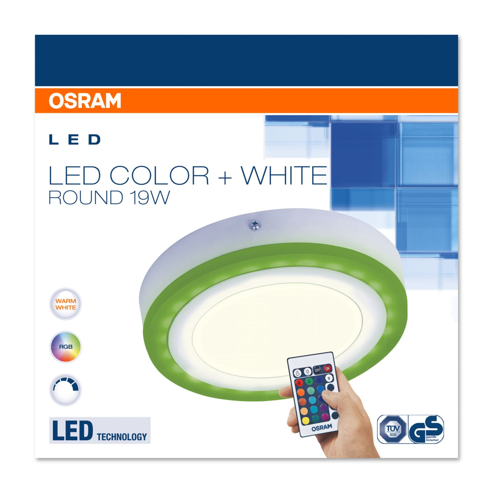 Osram Led Color White Round Rgb Led Wand Und Deckenleuchte Mit