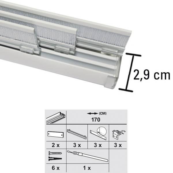 Gardinia Flächenvorhangschiene Komfort Komplett Set 3 5 Läufig |  Markenbaumarkt24