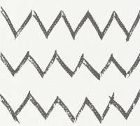 AS Creation Vliestapete Designdschungel 2 by Laura N. Schwarz-Weiß, Zick-Zack, 365742 Tapete