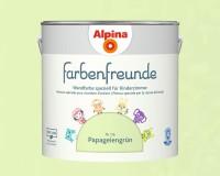 2x Alpina Farbenfreunde günstig im Set Innenfarbe Papageiengrün 2,5 L