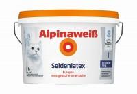Alpina Weiß Seidenlatex 1L|2,5L|5L|10L > Latexfarbe für strapazierfähige Wände