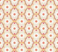 Livingwalls Vliestapete Cozz Vintage-Muster, Grau-Beige-Orange 362972 Tapete