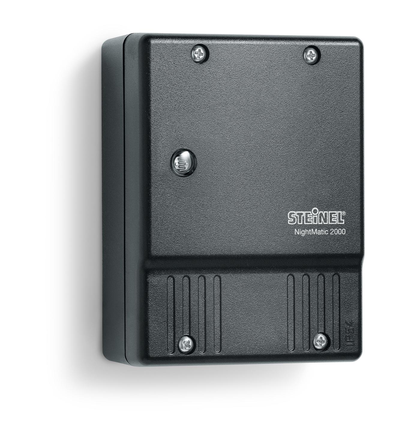 steinel nightmatic 2000 d mmerungsschalter lichtsensor sensor schwarz wei neu markenbaumarkt24. Black Bedroom Furniture Sets. Home Design Ideas