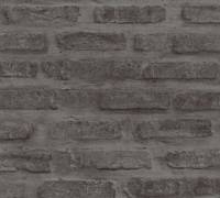 AS Creation Tapete   Steinoptik Schwarz Grau   New Walls