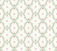 Livingwalls Vliestapete Cozz Vintage-Muster, Beige-Grau-Mint 362975 Tapete
