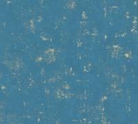 AS Creation Tapete Blooming Blau Grün Metallic | Vintage